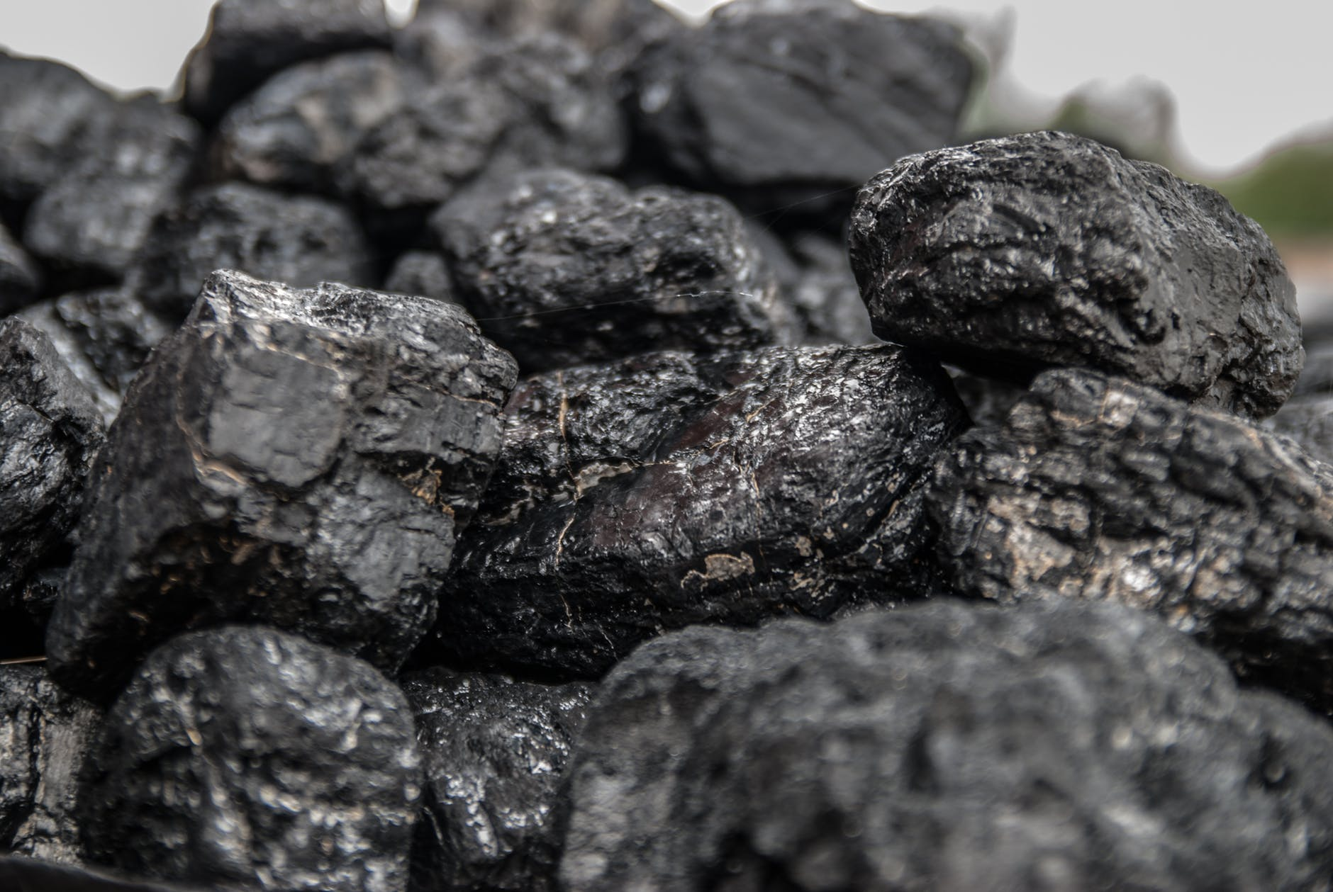 black close up coal dark