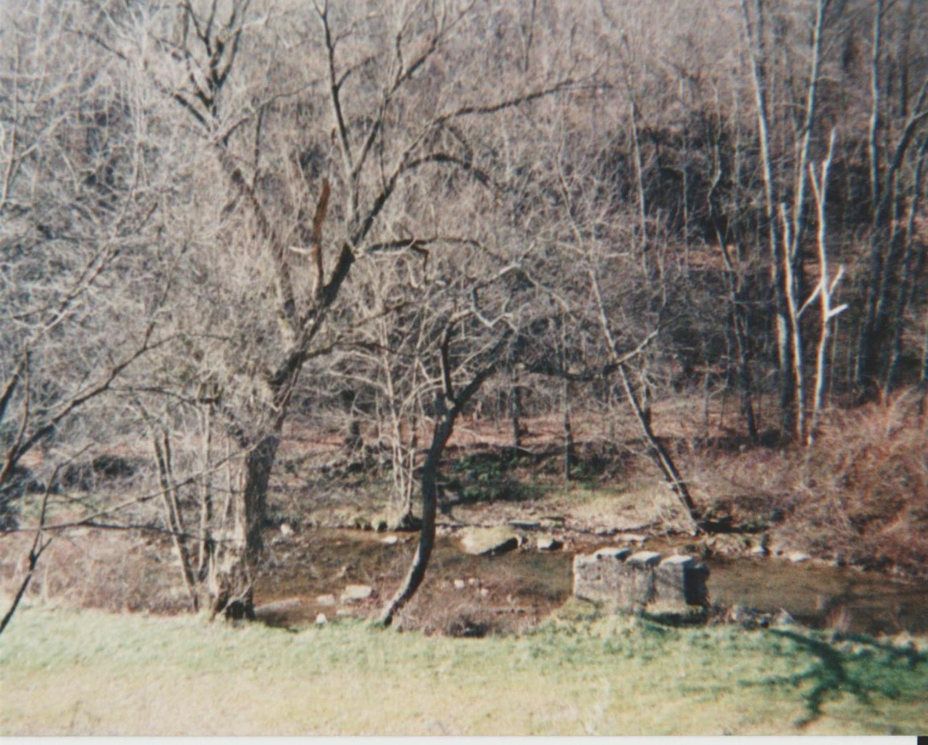 Creek and railroad bridge